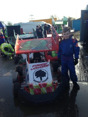 Ollie Owen and his new kart - January 2013